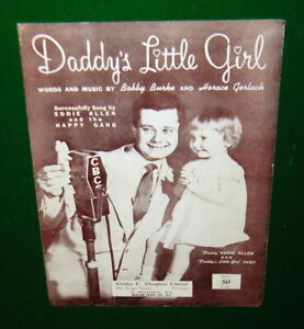 Daddy's Little Girl, 1949 Sheet Music, Eddie Allen CBC Canada on Cover, No Tape