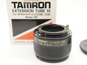TAMRON EXTENSION TUBES 1X FOR SP 90MM f2.5 MODEL 18F ADAPTALL-2 MOUNT FIT  *J26