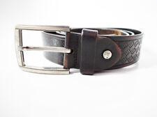 Septwolves Leather Mens Leather Belt Brown