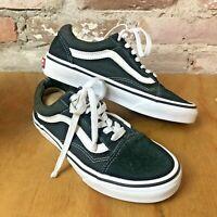 Vans Old Skool Low Top Black Shoes Sneakers Suede Unisex Women's 5.5 Men's 4