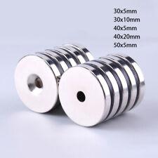 N35 Neodym Magnete Magnetscheiben Mit Loch Bohrung 30mm 40mm 50mm Stark Magnete