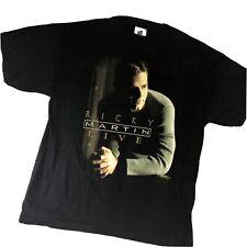 "Vintage 1999 Ricky Martin ""Livin La Vida Loca"" Live Tour Concert Shirt Latin Xl"
