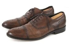mens brown BANANA REPUBLIC oxford dress shoes wingtip brogue leather 9.5 M
