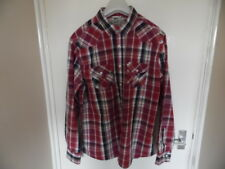 Gents Multi colour collared long sleeve check shirt size L