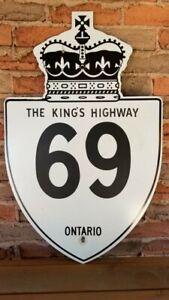 Vintage Ontario Kings Highway Sign #69