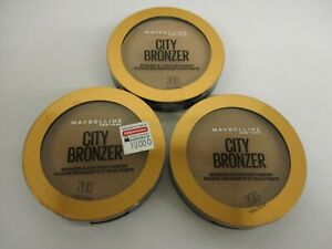 3 Maybelline City Bronzer and Contour Powder 200 Exp 8/22 GM 2342
