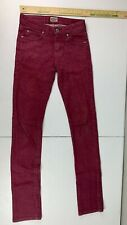 Burgundy Naked And Famous Denim Jeans