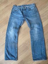 Mens Jeans de Levi 501-tamaño 34/30 Buen Estado