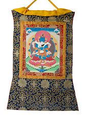 Thangka tibetain Bouddha Samantabhadra -Tangka Tenture Bouddhiste-78x 57cm- 6608
