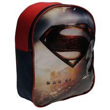 SUPERMAN sac à dos bleu marine et rouge  école  L 25 x H 32 x P 10 cm neuf