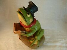 Frog Christmas figurine PRINCE signed Tim Wolfe with COA & Story Card