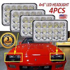 For 1985-1992 Camaro Crystal Clear 4pcs Hi/Lo Beam LED Headlights Upgrade W/ DRL