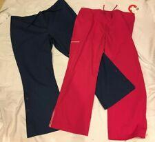 Scrub Pants Size Xl/Tg 1 Fuchia & 1 Blue New With Tags Two( 00006000 2) Pants Total
