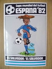 1982 Pegatinas de Copa Mundial Del Futbol-El Salvador/el Salvador-España 82 (12x8 Cm)