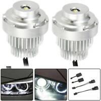 2x No Error LED 20W Angel Eye Halo Ring Light Bulb For BMW 5-Series E60 E61