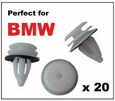 20 x BMW Plastic Front & Rear Door Card Panel Lining Fascia Interior Trim Clips
