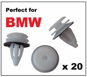 20 x BMW Plastic Front & Rear Door Card Panel Lining Fascia Interior Trim Clips
