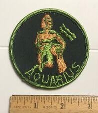 Aquarius Zodiac Sign Man Water Jug Souvenir Embroidered Round Patch