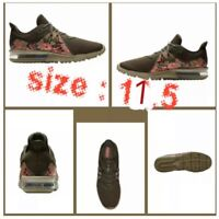 New Nike Air Max Sequent 3 C Running Nuetral Olive Camo AJ0004201 Size 10.5