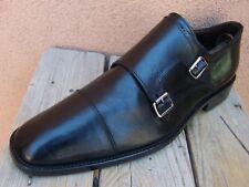TO BOOT NEW YORK Mens Dress Shoes Chic Black Double Monk Strap Cap Toe Size 9.5M
