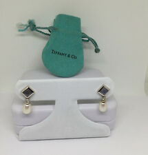 Tiffany & Co 18k White Gold Earrings  Moonstone, Diamonds and pearls. (no backs)