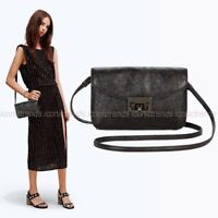 NWT💃🏻Marc Jacobs Metallic Leather Jane At The Disco Crossbody Bag Clutch Black