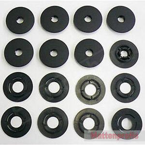 Mattenprofis Befestigungen für Skoda Fußmatten Gummimatten RUND - 8 Stück