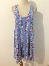 Victoria's Secret Sleeveless Dress Sundress Periwinkle Multi-Color Floral Size S