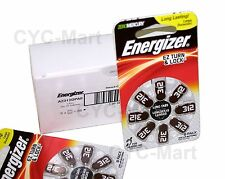 48 pcs Energizer Hearing Aid Battery AZ312 (PR41) Made in Germany FREE reg. POST