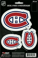 Montreal Canadiens Team ProMark Die-Cut Decal Stickers 3Pack