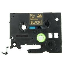 """Q-Label 12mm (1/2"""") TZe Tape Compatible For Brother P-Touch (Gold on Black)"""