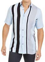 Alfani Mens Shirt Blue Size XL Button Down Regular-Fit Bowler Stripe $55 #263