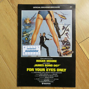 Official Souvenir Brochure For Your Eyes Only 007 James Bond Movie