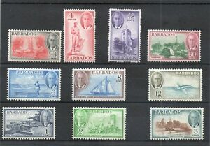 SG 271/280 BARBADOS MINT TO 60c .CAT £32