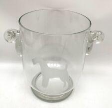 Crystal Standard Schanuzer Dog Ice Bucket Wine Cooler Glass Etched Image