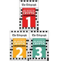 Telegraph Media Group Ltd 3 Books Collection Set Cryptic Crosswords Books 1,2,3