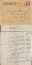 FRANCE 1946 LETTER PoW FEDERATION ENVELOPE