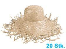 Lot de 20 Chapeaux de paille jardinier nature Chapeau en raphia tressé SH-21