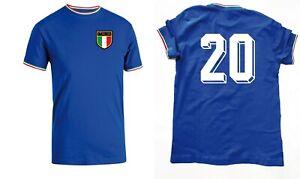 T-Shirt CELEBRATIVA NAZIONALE ITALIA MUNDIAL SPAGNA 82 PAOLO ROSSI BEARZOT