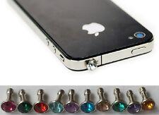 Anti Staub Stecker iPhone iPad Samsung Handy Schmuck Staubschutz Stöpsel Strass