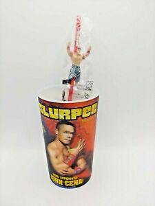 WWE John Cena 32oz 7-Eleven Slurpee 3D Lenticular Cup + Action Figure Straw GA2