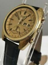 SEIKO 6139-6015 Golden Pogue RARE  Automatic Chronograph Top Condition70s Japan