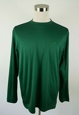 Adidas Mens Polyester Clima Lite Ls Crew Neck Solid Green Activewear T Shirt Xl