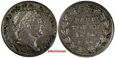 Great Britain George III Silver 1814 BANK TOKEN 1 Shilling 6 Pence  KM# Tn3