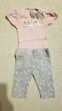 Gerber Organic Baby Girl Size Nb Outfit