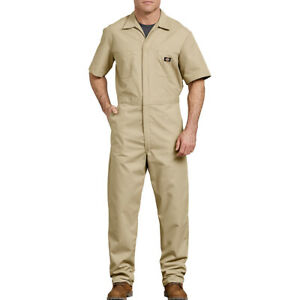 Dickies Men's Coverall Workwear Overall Snap Front Short Sleeve Jumpsuit 33999