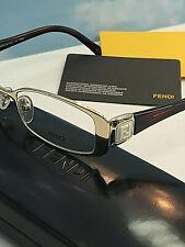 Fendi FE 901 714 Gold Metal Rectangle Eyeglasses 50mm