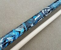 New Players Pool Cue 'Live Hard Play Hard'  D-GFB 'Anarchy', Mz Grip, 5/16x18