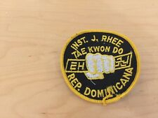 tae kwan do,patch,j.rhee inst.,new old stock, ,usa1970's, rep. dominica