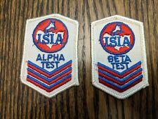 "Vintage ISIA Ice Skating Alpha Test Beta Test Patch, Iron On 2""x3"" ice skating"